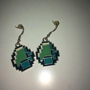 Minecraft Egg Earrings